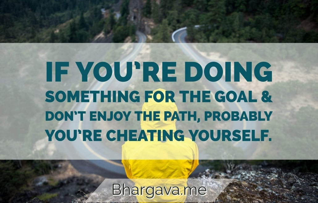 You are cheating yourself…